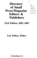 Small Press Record of Books In Print 2008-2009