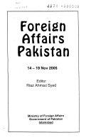 Foreign Affairs Pakistan Book