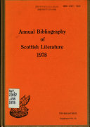 Annual Bibliography of Scottish Literature