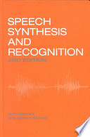 Speech Synthesis And Recognition Book PDF