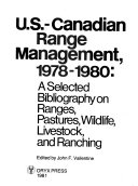 U S Canadian Range Management 1978 1980