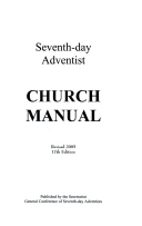 Seventh day adventist church manual general conference of seventh title page fandeluxe