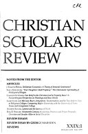 Christian Scholar s Review Book