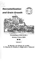 Recrystallization and Grain Growth