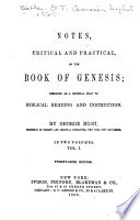 Notes Critical And Practical On The Book Of Genesis