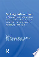 Sociology In Government