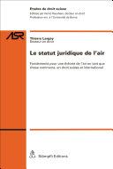Pdf Le statut juridique de l'air Telecharger