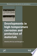 Developments In High Temperature Corrosion And Protection Of Materials Book PDF