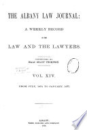 Albany Law Journal Book