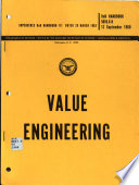 Principles and Applications of Value Engineering
