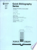 Education And Training In Plant Sciences 1979 1986