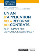 Un an d'application de la réforme des contrats