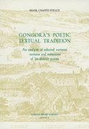 Gongoras Poetic Textual Trad