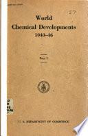 World Chemical Developments