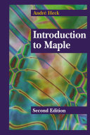 Introduction to Maple [Pdf/ePub] eBook