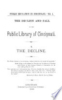 The Decline And Fall Of The Public Library Of Cincinnati