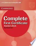 Complete First Certificate Teacher's Book
