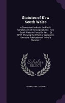 Statutes of New South Wales