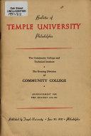 Evening Division of Community College