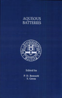 Proceedings of the Symposium on Aqueous Batteries