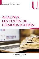Pdf Analyser les textes de communication - 4e éd. Telecharger