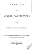Minutes Taken at the Several Annual Conferences of the Methodist Episcopal Church in the United States of America