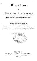 Hand book of Universal Literature