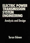 Electric Power Transmission System Engineering Book PDF
