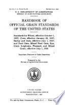 Handbook of Official Grain Standards for Wheat, Shelled Corn, and Oats