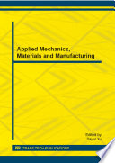 Applied Mechanics Materials And Manufacturing