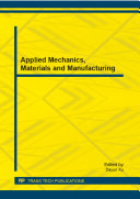 Applied Mechanics, Materials and Manufacturing Book