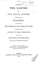 Concerning The Earths In Our Solar System Which Are Called Planets