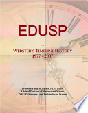 EDUSP: Webster's Timeline History 1977 - 2007