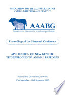 Application of New Genetic Technologies to Animal Breeding Book