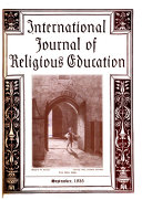 International Journal of Religious Education Book