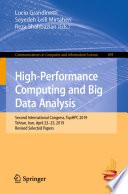 High Performance Computing and Big Data Analysis