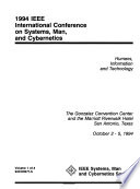 1994 IEEE International Conference on Systems, Man, and Cybernetics