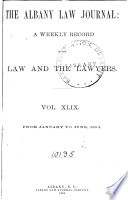 The Albany Law Journal Pdf/ePub eBook