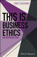 This is Business Ethics Pdf/ePub eBook