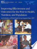 Improving Effectiveness and Outcomes for the Poor in Health, Nutrition, and Population