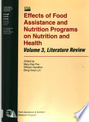 Effects of Food Assistance and Nutrition Programs on Nutrition and Health Book PDF