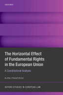 Pdf The Horizontal Effect of Fundamental Rights in the European Union Telecharger