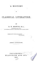 History of classical literature: Greek literature