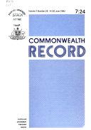 Commonwealth Record