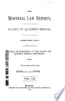 The Montreal Law Reports