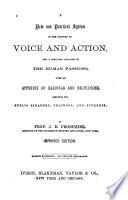 A New and Practical System of the Culture of Voice and Action Book