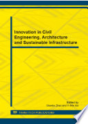 Innovation in Civil Engineering  Architecture and Sustainable Infrastructure Book
