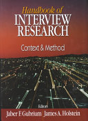 Handbook of Interview Research