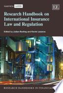 Research Handbook On International Insurance Law And Regulation Book PDF