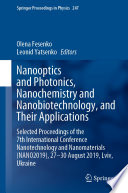 Nanooptics and Photonics  Nanochemistry and Nanobiotechnology  and Their Applications Book